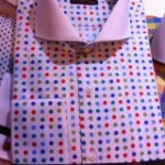 Red and Blue Polka Dot Steven Land Shirt