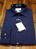 Navy Viyella 80% Cotton 20% Wool Shirt