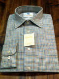 Tattersall Check Viyella 80% Cotton and 20% Wool Shirt