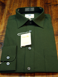Green Viyella 80% Cotton and 20% Wool Shirt