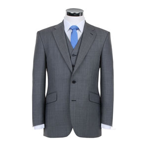 Slim Fit or Classic Fit Grey Wedding Suit (available in Black also)